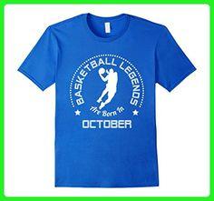 Mens Basketball T-Shirt Born In October Basketball Birthday 2XL Royal Blue - Sports shirts (*Amazon Partner-Link)