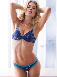 Victoria's Secret Sexy Hot Lingerie Models Doutzen Kroes, Erin Heatherton and Candice Swanepoel. Girls Women Fashion