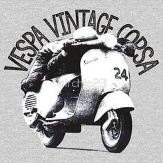 'Vespa Corsa Vintage' T-Shirt by Vespa, Motorbikes, Tshirt Colors, Wardrobe Staples, Female Models, Heather Grey, Classic T Shirts, Comfy, Fabric