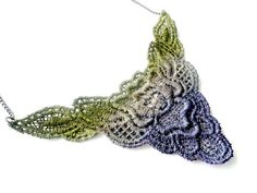 Hand Dyed Lace Necklace