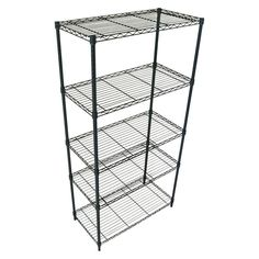 Adjustable 5-Tier Wire Shelving Unit - Black - Room Essentials