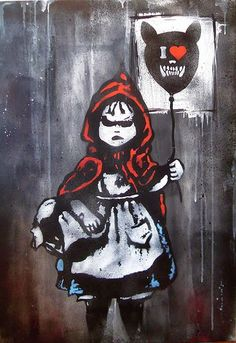 Little Red Riding Hood Graffiti (artist unknown)
