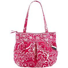 Vera Bradley Morgan Handbag in Twirly Birds Pink ($63) found on Polyvore