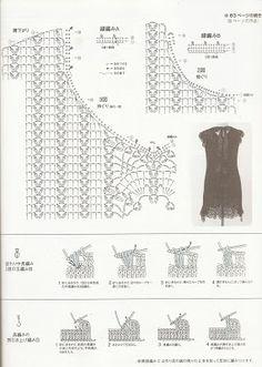 As Receitas de Crochê: Vestido preto em crochê