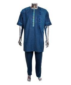 Buy Tradtional cordinate wear for men-Blue from Bosh Designs  at ₦25000.00 on Bargain Master Nigeria