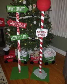 Diy Christmas Yard Signs, Christmas Diy, Christmas Decorations, Christmas Ornaments, Holiday Decor, North Pole, Instagram, Christmas Jewelry, Arctic