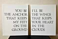 Quote on Canvas You Be The Anchor por DreamLoveBoutique