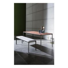 Create your cozy living interior with a minimal mood and the finest materials. The Slim wood and Slim bench upholstered in Kvadrat fabric. #living #design #homedecor #interiordesign #interior #interiorarchitecture #archilovers #designlovers #minimalism #elegance #wood #bench #table #designtable