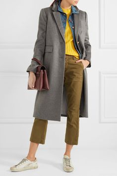 Gray wool and cashmere-blend  Button fastenings along front  80% wool, 20% cashmere; lining: 95% polyester, 5% elastane Dry clean Designer color: Heather Flannel