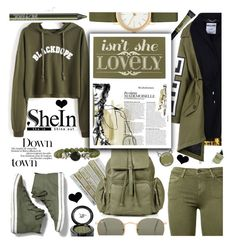 """""""SHEIN Letter Print Raw Hem Crop Sweatshirt"""" by anin-kutak ❤ liked on Polyvore featuring Moschino, Lauren B. Beauty, Skagen, Current/Elliott, Ray-Ban, Beauty Is Life, Keds, Topshop, Home Decorators Collection and Urban Decay"""