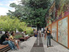 West 125th St Fairway Perspective #mathewsnielsen #concept #render #newyork #NYEDC