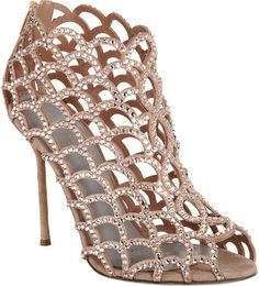 Crystal Cutout Shoe Bootie
