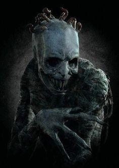 Art of Horror Blood Guts n Gore Dark Fantasy Art, Images Terrifiantes, Dark Images, Arte Horror, Art Macabre, Art Sinistre, Creepy Monster, Dark Creatures, Evil Art