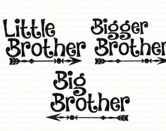 Big Bro SVG File Bigger Brother Little Brother DXF EPS png Cutting File Silhouette Studio Designer Edition Cricut Design Space Printable