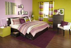 Modern Mornings.  Brighten up your bedroom with the PALMLILJA duvet cover!