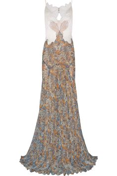 STELLA MCCARTNEY Green Carpet Challenge: Organza, Guipure Lace And Printed Silk-Georgette Gown. #stellamccartney #cloth #gown