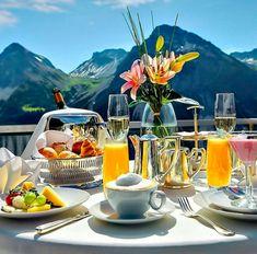 Breakfast in the Swiss Alps...nice....L.Loe