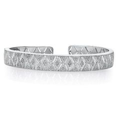 Diamond Bangle in Sterling Silver, available at #HelzbergDiamonds