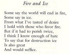 My favorite Robert Frost poem. :)