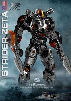 jaeger concept art   Strider Zeta Custom Jaeger Request by rs2studios