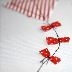 Machine Sewn Applique Kite Card