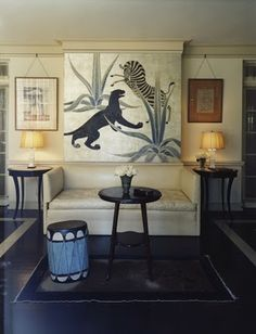 Decorator Elsie de Wolfe had Charles Baskerville paint a mural in the Di Frasso's home in LA. Elsie De Wolfe, Decorating Tips, Interior Decorating, Interior Design Images, Marlene Dietrich, Beautiful Interiors, Interiores Design, Chinoiserie, Decoration