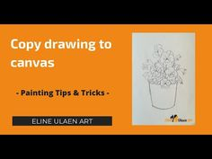 Copy Drawing To Canvas. Tips & tricks for paiting, by Dutch Artist Eline... Painting Tutorials, Painting Tips, Gary Jenkins, Painting Workshop, Paint Background, Dutch Artists, Bob Ross, Learn To Paint, Childrens Books