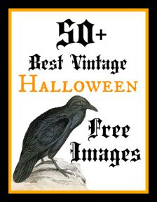 #50 Best Free Printable Vintage Halloween Images ! by The Graphics Fairy