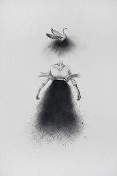 Hauntingly Beautiful Charcoal Drawings by Véronique La Perriére M.