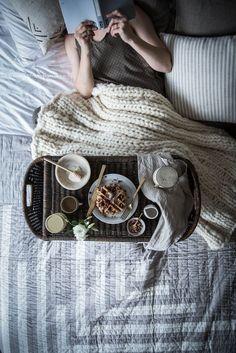Local Milk | breakfast in bed | vegan rose + chocolate chip spelt waffles /