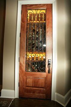 Classic Full Glass Wine Cellar Doors Lake Home Interior