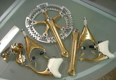 Bike Jewelry :   Golden Campagnolo | Shared by velojoy.com