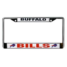 Buffalo Bills Field Plastic License Plate Frame