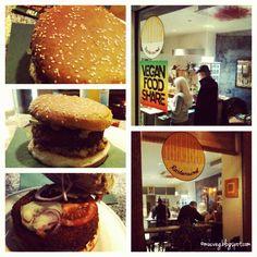 Bei einem Ausflug nach Augsburg erkundete Regina veganes Soulfoud bei Ihlanis Rastaround und genoss einen Burger mit Erdnuss-Soße.