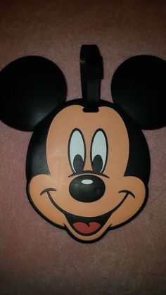 #disney Disney Theme Park Mickey Mouse Large Face Luggage Bag Tag - Price on Back please retweet