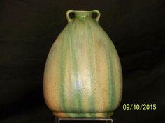 Belgium Art Pottery Thulin FeatherPull DripGlaze Art Deco c1920-30's Era Vase