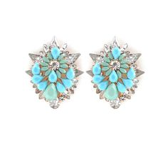 Tibble Earrings in Turquoise and Mint