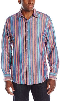 Robert Graham Men's Mistletoe Long Sleeve Shirt, Navy, XXXXL Best Price