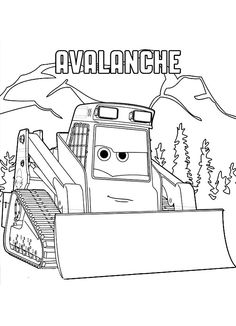 Avalanche Is A Character In The Upcoming Movie Planes Fire And Rescue He Also Dustys Friend Have Fun With This Free 2 Coloring Sheet