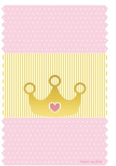Golden Crown in Pink: Free Printable Candy Bar Labels. Crown Party, Queens Wallpaper, Crown Pattern, Chip Bags, Name Art, Gold Crown, Childrens Party, Princess Party, Party Printables