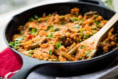 Vegetarian Paella with Red Peppers & Chickpeas