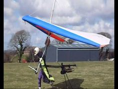 FLPHG Powered Hang Gliding on a windy day. - YouTube