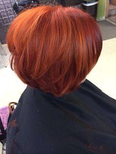 Bright red! By Lexie at fringe salon lennon mi #aveda