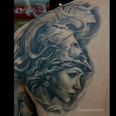 Carlos Torres art and tattoo...Athena...wonderful work