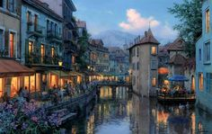 Evgeny Lushpin - collection of the artist. Evening in Annecy (2015)   por lack of imagination
