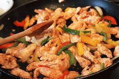 Fast healthy chicken fajitas recipe #chicken #food #fajitas #Mexican