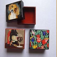 handpainted ceramic boxes