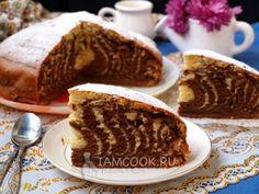 Рецепт пирога «Зебра» без сметаны