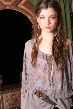 Gods I love this filmy lavender peasant blouse! - Bonnie Strauss Peasant Blouse from Gypsy Moon