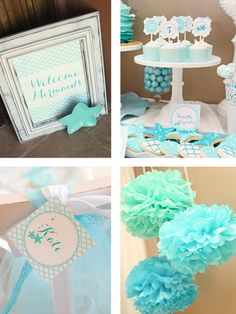 Mermaid Personalized Party Theme by The TomKat Studio on Gilt.com